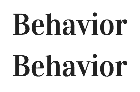 Behavior-Behavior